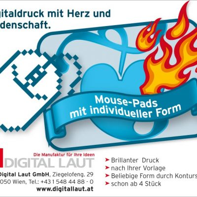 "Cover-Kleinanzeige ""Mouse-Pads mit individueller Form"""