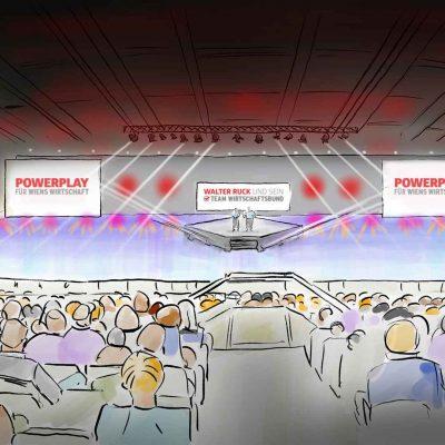 Scribble als finale Visualisierung der Veranstaltung